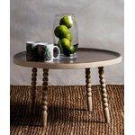 """Mažas apvalus medžio masyvo stalas (""""kayakalp"""")"""