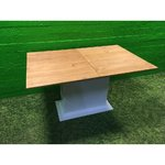 Lightweight dining table with solid wood