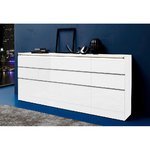 White high gloss compartment with 4 doors and 8 drawers (width 240cm)
