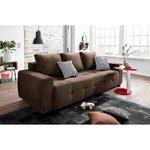 Tamsiai ruda sofa-lova