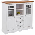 Brown and white cabinet (melissa)