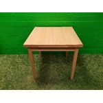 Light solid wood dining table extendable