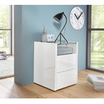 White high gloss chest of drawers (arco)