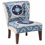 Blue patterned armchair