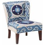Синее узорчатое кресло