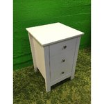 White night dresser with 3 drawers