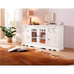 White solid wood chest of drawers (width 169cm)