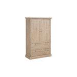 Bruce Laundry Cabinet 2 doors Oak 3 Doors