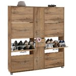 Large brown shoe cabinet
