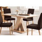 Brown dining table with acacia wood (milas) (with blemishes)