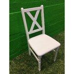 Valge täispuit tool