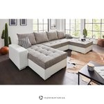 White-gray corner sofa (with beauty defects)