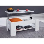 White Retractable Coffee Table (in box, whole)