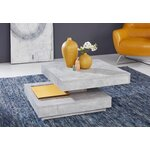 Gray swivel coffee table (in box, whole)