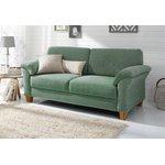Vihreä harmaa sohva (borkum) (näyte hallista, kokonainen)