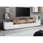 Brown-white wide tv cabinet (corona) (with beauty defects, in box)