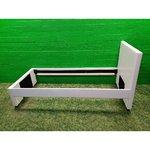 Balta trikotažo odinė lova (90x200)