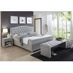 Light gray large bed (in box, whole)