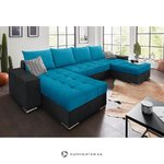 Blue-anthracite sofa bed (with beauty defects)