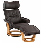 Dark brown armchair in a row