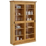 Light Brown Solid Wood Showcase (marina)