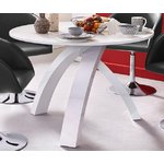 White high gloss rounded dining table (in box, with bugs)
