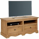 Brown solid wood TV cabinet