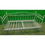 Beige kokoontaitettava sänky (90-180cm x 206cm)