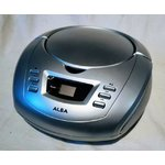 Gray alba radio / cd player (cd cover broken)