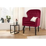 Red velvet armchair (houston) (whole, sample hall)