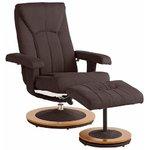 Brown chestnut armchair in a row