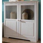White Full Wood Wide Showcase (Skagen) (Full, Box)