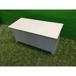 White solid wood chest