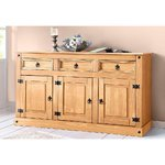 Brown Solid Wood Chest of Drawers (Mexico)
