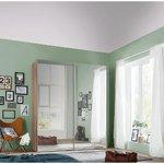 Ruskea vaatekaappi 2 peilillä ja dioilla (kauneusvikoilla, laatikossa)