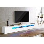 Valkoinen High Gloss Wide TV -kaappi (koko)