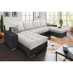Anthracite-silver sofa bed (with beauty defects)