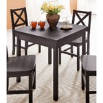 Black dining table with solid wood