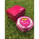 Roosa magnetoola LED valgusega PrettyPink Boombox (CD ei tööta)