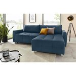 Blue Corner Sofa Bed (whole, sample hall)