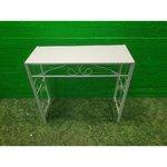 Metal High White Table