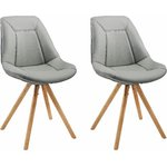 Mel Chair Grey/oak base