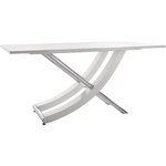 Carl Table white high gloss / chrome