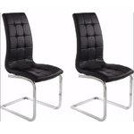 Bruno chair 2-pack black PU