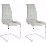 Bruno chair 2-pack grey PU