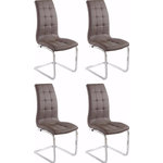 Bruno chair 4-pack cappuccino PU