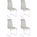 Bruno chair 4-pack grey PU