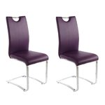 VILLA chair 2-pack purple PU