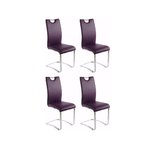 Silvana chair 4-pack purple PU