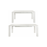 Curtis Dining table White High Gloss